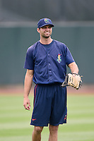 Cedar Rapids Kernels pitcher Randy LeBlanc (15) during practice before the first game of a doubleheader against the Kane County Cougars on May 10, 2016 at Perfect Game Field in Cedar Rapids, Iowa.  Kane County defeated Cedar Rapids 2-0.  (Mike Janes/Four Seam Images)