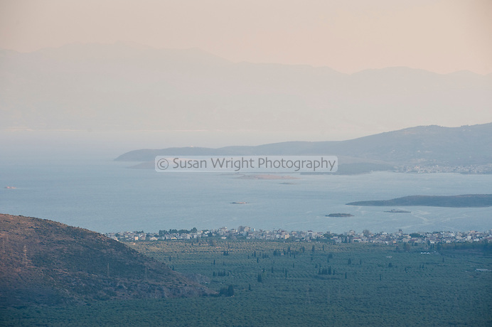 View to Itea and the Gulf of Corinth from Delphi, Greece