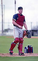Boston Red Sox Scott Hatteberg during spring training circa 1992 at Chain of Lakes Park in Winter Haven, Florida.  (MJA/Four Seam Images)