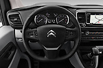 Car pictures of steering wheel view of a 2017 Citroen Jumpy Business 5 Door Cargo Van Steering Wheel