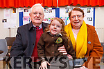 Cora Given with her grandparents Nora and Joe Motherway at the Gaelscoil Mhic Easmainn Grandparents day on Thursday.