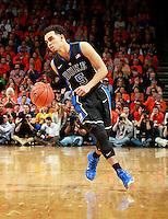 Duke guard Tyus Jones (5) during an ACC basketball game Jan. 31, 2015 in Charlottesville, VA. Duke won 69-63.