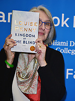 MIAMI, FL - NOVEMBER 29: Author Louise Penny speaking and sign copies of her new book &quot;Kingdom of the Blind&quot; presented by Books and Books at Miami Dade College Chapman Conference Center Wolfson Campus on November 29, 2018 in Miami, Florida.  <br /> CAP/MPI10<br /> &copy;MPI10/Capital Pictures