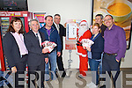 Tralee Credit Union with some of the stores that have their €2 Saving Stamp Machines located in their stores were from left: Helen Geary, Tralee Credit Union, Derry Fleming, Tralee Credit Union, Gerard Hussey, Hussey's Newsagents, Princess Street, Tralee, Derek Rusk, Manor West Retail Park, Harry Hynes, Hynes Quick Pick, Shanakill, Colette O'Sullivan, Byrne's Spar, Oakpark and John Hickey, Byrne's Spar, Caherslee.