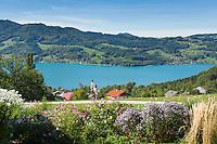 Austria, Upper Austria, Salzkammergut, Steinbach at lake Attersee | Oesterreich, Salzkammergut, Steinbach am Attersee