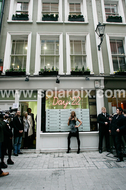**ALL ROUND PICTURES FROM SOLARPIX.COM**                                             **WORLDWIDE SYNDICATION RIGHTS**                                                                                  Caption: Katie Price aka Jordan launches her new fashion range - Day22 - in Kingly Street, London, during London fashion week. London, UK. 22 February 2011                                                                              This pic: Katie Price                                                                                             JOB REF: 12869 LNJ       DATE: 22_02_2011                                                           **MUST CREDIT SOLARPIX.COM OR DOUBLE FEE WILL BE CHARGED**                                                                      **MUST AGREE FEE BEFORE ONLINE USAGE**                               **CALL US ON: +34 952 811 768 or LOW RATE FROM UK 0844 617 7637**
