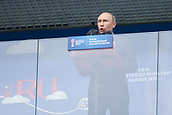 17th June 2017, St Petersburg, Russia; FIFA 2017 Confederations Cup football, Russia versus New Zealand; Group A - Saint Petersburg Stadium,  Russian President Vladimir Putin speaking before the Confederations Cup Group A soccer match between Russia and New Zealand at the stadium in Saint Petersburg, Russia, 17 June 2017.