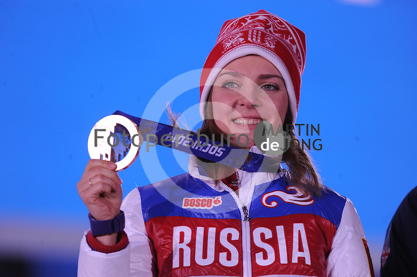 OLYMPICS: SOCHI: Medal Plaza, 15-02-2014, Skeleton, Women, Elena Nikitina (RUS), ©photo Martin de Jong