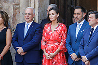 SAN MILLAN DE LA COGOLLA, SPAIN - JULY 05: Queen Letizia Of Spain attends the closure of the seminar 'Heritage Education In The School' at the International Center of the Spanish language in La Rioja on July 05, 2019 in San Millan de la Cogolla, La Rioja, Spain.  ***NO SPAIN***<br /> CAP/MPI/RJO<br /> ©RJO/MPI/Capital Pictures
