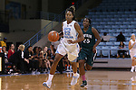 09 November 2015: North Carolina's N'Dea Bryant (22) and Mount Olive's Kiara Jones (25). The University of North Carolina Tar Heels hosted the University of Mount Olive Trojans at Carmichael Arena in Chapel Hill, North Carolina in a 2015-16 NCAA Women's Basketball exhibition game. UNC won the game 99-45.