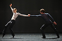 Woking, UK. 12.04.2016. Dance Consortium presents Nederlands Dans Theater 2, at The New Victoria Theatre, Woking, prior to commencing a national tour. this piece is : mutual comfort, choreographed by Edward Clug. The dancers are: Alice Godrey, Katarina van den Wouwer, Miguel Duarte, Helias Tur-Dorvault. Photograph © Jane Hobson.