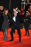 France, François Cluzet arrive en compagnie de Narjiss à la cérémonie des César 2014, Paris, Théatre du Chatelet
