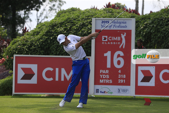 Sergio Garcia (ESP) on the 16th tee during Round 4 of the CIMB Classic in the Kuala Lumpur Golf &amp; Country Club on Sunday 2nd November 2014.<br /> Picture:  Thos Caffrey / www.golffile.ie