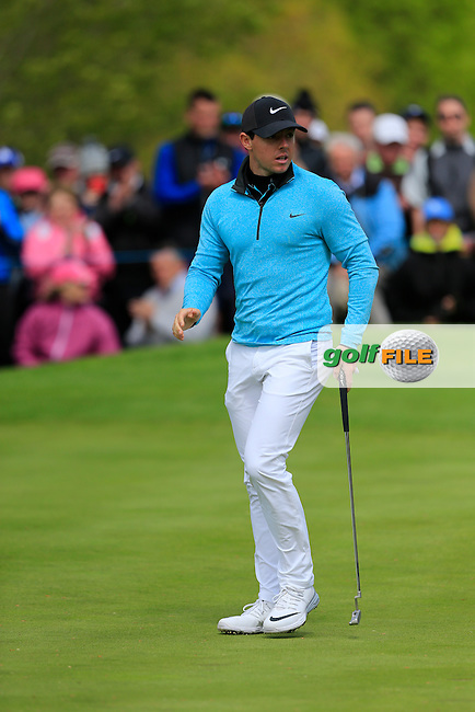 Rory McIlroy (NIR) on the 6th during round 1 of the Dubai Duty Free Irish Open, The K Club, Straffan, Co. Kildare<br /> Picture: Golffile   Fran Caffrey<br /> <br /> <br /> All photo usage must carry mandatory copyright credit (&copy; Golffile   Fran Caffrey)