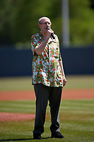 National anthem singer before a Florida State League game between the Jupiter Hammerheads and Florida Fire Frogs on April 11, 2019 at Osceola County Stadium in Kissimmee, Florida.  Jupiter defeated Florida 2-0.  (Mike Janes/Four Seam Images)