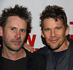 "Josh Hamilton and Ethan Hawke attends the Opening Night of The New Group World Premiere of ""All The Fine Boys"" at the The Green Fig Urban Eatery on March 1, 2017 in New York City."