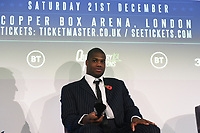 Daniel Dubois during a Press Conference at the BT Tower on 11th November 2019