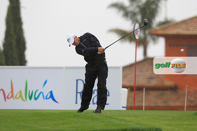 Alexander Noren (SWE) tees off on the 18th tee during Thursday's Round 1 of the Open de Espana at Real Club de Golf de Sevilla, Seville, Spain, 3rd May 2012 (Photo Eoin Clarke/www.golffile.ie)