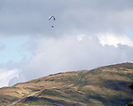 I spy a paraglider above the Ochil Hills - no doubt trying to get a free view of the match