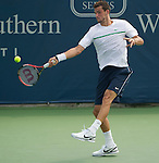 Grigor Dimitrov (BUL) loses to David Ferrer (ESP) at the Western and Southern Financial Group Masters Series in Cincinnati on August 17, 2011.   Ferrer won in three sets:  4-6, 6-1, 7-5.