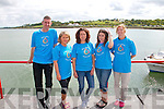 Pictured at Glin Charity Swim in aid of West Limerick Children's Services which took place in Glin on Sunday were volunteers L-R: Brian Muldoon, Maura O'Connor, Christina Keane, Louise Burke and Andrina Coffey, all from West Limerick Children's Services.