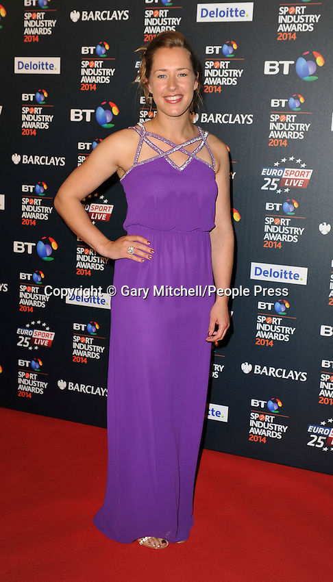 Lizzy Yarnold attends the BT Sport Industry Awards at Battersea Evolution on May 8, 2014 in London, England