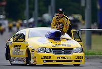 Jun. 17, 2012; Bristol, TN, USA: NHRA pro stock driver Jeg Coughlin during the Thunder Valley Nationals at Bristol Dragway. Mandatory Credit: Mark J. Rebilas-