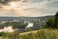 France, Eure (27), Les Andelys, le Petit-Andely et la Seine // France, Eure, Les Andelys, Petit-Andely and the Seine