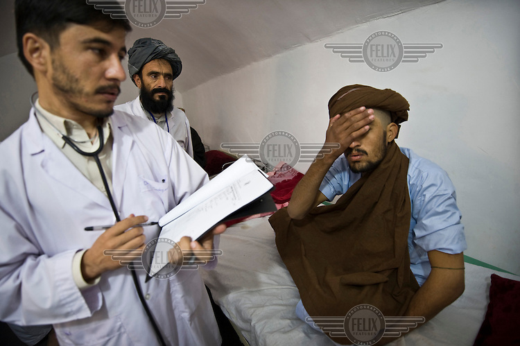 An addict receives treatment at the province's first rehabilitation centre for drug users. There are estimated to be several thousand heroin addicts in Uruzgan and the new rehabilitation centre can house 15 addicts. Treatment plans are made individually for each patient. They receive therapy, information about drug use, and are given help and support getting clean. The centre is part of a programme run by the Dutch Consortium for Uruzgan (DCU), a group of five Dutch and 12 Afghan NGOs.
