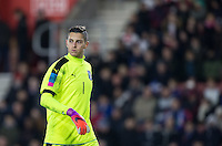Goalkeeper Pierluigi Gollini (Aston Villa) of Italy during the Under 21 International Friendly match between England and Italy at St Mary's Stadium, Southampton, England on 10 November 2016. Photo by Andy Rowland.