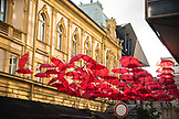 SERBIA, Belgrade, Umbrella art in Belgrade, Eastern Europe