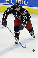 20 October 2006: Columbus Blue Jackets' Jason Chimera plays against the Toronto Maple Leafs at Nationwide Arena in Columbus, Ohio.<br />