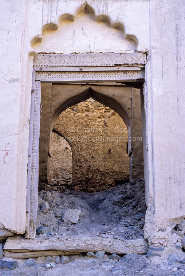 Al-Mansfah, Oman.  Entrance into Old Abandoned House.