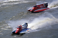 #94 and #16 USFORA Formula One (F1) Tunnel Boats, Cincinnati, Ohio 1990