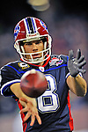 7 December 2008: Buffalo Bills' punter Brian Moorman practices a kick on the sidelines during a game against the Miami Dolphins in the first regular season NFL game ever played in Canada. The Dolphins defeated the Bills 16-3 at the Rogers Centre in Toronto, Ontario. ..Mandatory Photo Credit: Ed Wolfstein Photo