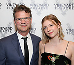 Michael Curry and Eva curry attends the Opening Night Performance of 'The Beast In The Jungle' at The Vineyard Theatre on May 23, 2018 in New York City.