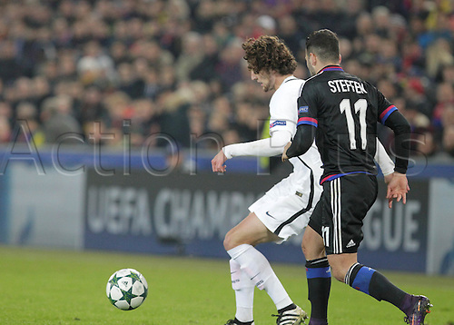 01/11/2016. Basel, Switzerland. Rabiot (Paris Saint Germain) in action during the champions league match against FC Basel Paris Saint Germain at St. Jakob Park in Basel, Switzerland