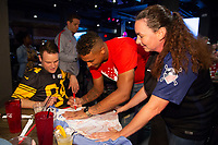 Zack Steffen signs an autograph for fans attending a U.S. Soccer Sunday Kick-off Series Event at Nashville Underground on Sunday, September 9, 2018 in Nashville, TN.