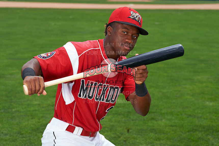 Batavia Muckdogs shorstop Anfernee Seymour (3) poses for a photo on July 8, 2015 at Dwyer Stadium in Batavia, New York.  (Mike Janes/Four Seam Images)
