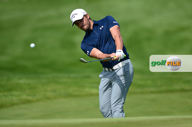 Haydn Porteous of South Africa chips during Round 1 of the Nordea Masters, Bro Hof Slott Golf Club, Stockholm, Sweden. 02/06/2016<br /> Picture: Richard Martin-Roberts / Golffile<br /> <br /> All photos usage must carry mandatory copyright credit (&copy; Golffile   Richard Martin- Roberts)