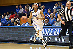 14 November 2013: Duke's Chloe Wells. The Duke University Blue Devils played the University of South Carolina Upstate Spartans at Cameron Indoor Stadium in Durham, North Carolina in a 2013-14 NCAA Division I Women's Basketball game. Duke won the game 123-40.