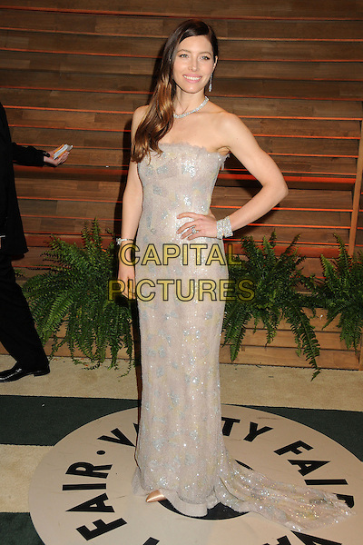 02 March 2014 - West Hollywood, California - Jessica Biel. 2014 Vanity Fair Oscar Party following the 86th Academy Awards held at Sunset Plaza.  <br /> CAP/ADM/BP<br /> &copy;Byron Purvis/AdMedia/Capital Pictures