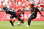 Bayern Munich Midfielder Franck Ribery (C) in action during the 2017 International Champions Cup China match between FC Bayern and AC Milan at Universiade Sports Centre Stadium on July 22, 2017 in Shenzhen, China. Photo by Marcio Rodrigo Machado/Power Sport Images