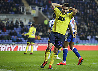 Blackburn Rovers' Craig Conway rues a near miss <br /> <br /> Photographer Andrew Kearns/CameraSport<br /> <br /> The EFL Sky Bet Championship - Reading v Blackburn Rovers - Wednesday 13th February 2019 - Madejski Stadium - Reading<br /> <br /> World Copyright © 2019 CameraSport. All rights reserved. 43 Linden Ave. Countesthorpe. Leicester. England. LE8 5PG - Tel: +44 (0) 116 277 4147 - admin@camerasport.com - www.camerasport.com