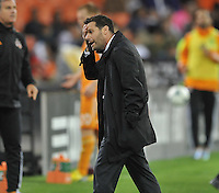 D.C. United Head Coach Ben Olsen at the end of the game. The Houston Dynamo defeated D.C. United 4-0, at RFK Stadium, Wednesday May 8 , 2013.