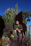 Celebrity Gardener Jamie Durie poses for a portrait in the Succulent Garden he designed at the Royal Botanical Gardens in Sydney on Wednesday, 15th of July 2015, Sydney, Australia (Photo: Steve Christo)