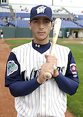 April 20, 2004:  George Kottaras of the Fort Wayne Wizards, Midwest League (Low-A) affiliate of the San Diego Padres, during a game at Memorial Stadium in Fort Wayne, IN.  Photo by:  Mike Janes/Four Seam Images