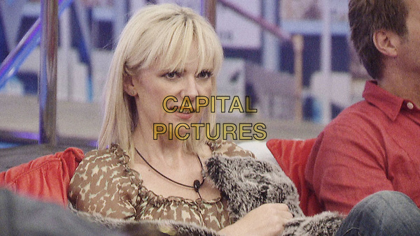 SAMANTHA BRICK.in Celebrity Big Brother Summer 2012, Day Eight.CBB 8 headshot portrait brown beige print.*Filmstill - Editorial Use Only*.CAP/NFS.Supplied by Capital Pictures.