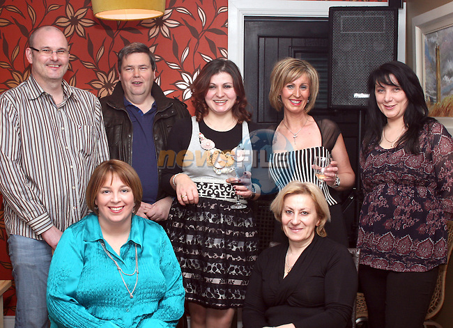 Owners, Martina Fitzpatrick and Eriona Ferris with all the restaurant staff at the Official Opening of Bistro BT in Bettystown...Photo NEWSFILE/Jenny Matthews.(Photo credit should read Jenny Matthews/NEWSFILE)....This Picture has been sent you under the condtions enclosed by:.Newsfile Ltd..The Studio,.Millmount Abbey,.Drogheda,.Co Meath..Ireland..Tel: +353(0)41-9871240.Fax: +353(0)41-9871260.GSM: +353(0)86-2500958.email: pictures@newsfile.ie.www.newsfile.ie.FTP: 193.120.102.198.