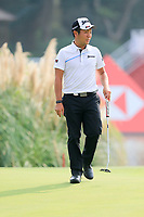 Yuki Inamori (JPN) on the 18th green during the 2nd round at the WGC HSBC Champions 2018, Sheshan Golf CLub, Shanghai, China. 26/10/2018.<br /> Picture Fran Caffrey / Golffile.ie<br /> <br /> All photo usage must carry mandatory copyright credit (&copy; Golffile | Fran Caffrey)